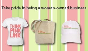 Take pride in being a woman-owned business
